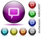 set of color comment glass...