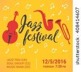 jazz festival poster. double... | Shutterstock .eps vector #408414607