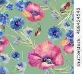 beautiful floral seamless... | Shutterstock . vector #408424543
