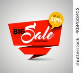 big sale banner  shop template... | Shutterstock .eps vector #408433453