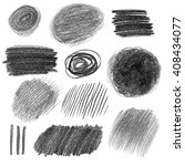 collection of graphite pencil... | Shutterstock . vector #408434077