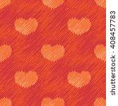 Orange Hearts Faux Fabric...
