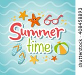 summertime traveling card with... | Shutterstock .eps vector #408458893