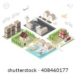 set of isolated isometric... | Shutterstock .eps vector #408460177