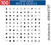 100 universal icon set for web... | Shutterstock .eps vector #408465787