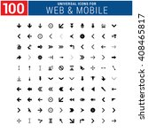 100 universal icon set for web... | Shutterstock .eps vector #408465817