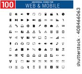 100 universal icon set for web... | Shutterstock .eps vector #408466063