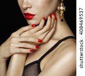 fashion studio photo of... | Shutterstock . vector #408469537