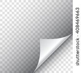 page curl with shadow | Shutterstock .eps vector #408469663