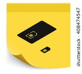 set of isometric sim card and...