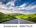spring landscape of tuscany... | Shutterstock . vector #408475123