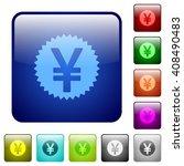 set of color yen sticker glass...