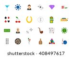 set of 24 game of chance... | Shutterstock .eps vector #408497617
