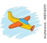 handmade vintage wooden toy...   Shutterstock .eps vector #408518293