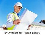 engineer builder at... | Shutterstock . vector #408518593