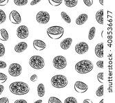 seamless pattern of orange... | Shutterstock .eps vector #408536677