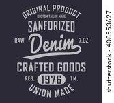 denim typography  t shirt... | Shutterstock .eps vector #408553627