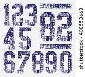 1234567890 numbers typography ... | Shutterstock .eps vector #408553663