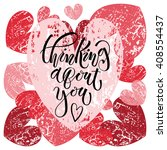 thinking about you text as...   Shutterstock .eps vector #408554437
