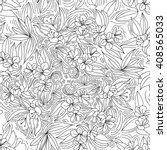 garden seamless pattern line... | Shutterstock .eps vector #408565033