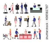 people silhouettes in shopping... | Shutterstock .eps vector #408582787