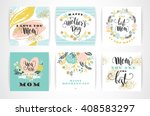 set of happy mothers day... | Shutterstock .eps vector #408583297