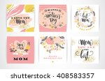 set of happy mothers day... | Shutterstock .eps vector #408583357