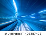 Subway Tunnel With Motion Blur...