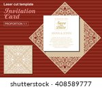 vector die laser cut wedding... | Shutterstock .eps vector #408589777