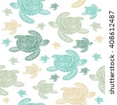 Sea Turtles Colorfully Seamles...