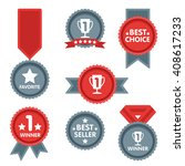 medal and winner icon set.... | Shutterstock . vector #408617233