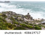 minack theatre on a windy ... | Shutterstock . vector #408619717