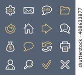 web   internet icons set   Shutterstock .eps vector #408633877