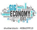 word cloud with gig economy... | Shutterstock . vector #408639913
