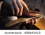 Shoemaker Makes Shoes For Men....