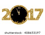 happy new year 2017  | Shutterstock .eps vector #408653197