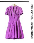Vintage Purple Dress On Clothe...
