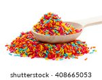 Confectionery Topping Isolated...