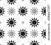 abstract monochrome sun pattern.... | Shutterstock .eps vector #408667297