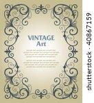 vector vintage template frame...   Shutterstock .eps vector #40867159