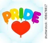 balloon lettering for pride...   Shutterstock .eps vector #408678817