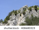 view of apuan alps in summer... | Shutterstock . vector #408680323