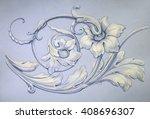 tracery  decorative ornament.... | Shutterstock . vector #408696307