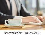 work fuel. selective focus on a ... | Shutterstock . vector #408696433