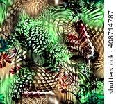 leopard rounds silk scarf...   Shutterstock . vector #408714787
