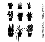 set of house plant isolated... | Shutterstock .eps vector #408719527