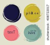 set of 4 different grunge circles design elements. vector illustration | Shutterstock vector #408722017