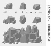 rock stone vector set | Shutterstock .eps vector #408736717