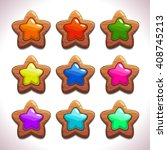 cartoon wooden stars with...