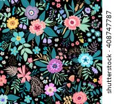 amazing floral pattern with... | Shutterstock .eps vector #408747787
